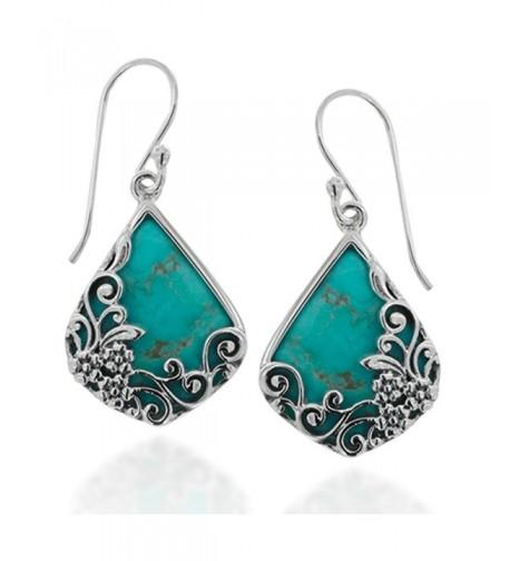 Oxidized Sterling Decorative Turquoise Gemstone