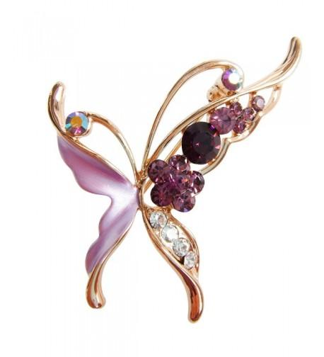 Navachi Plated Crystal Butterfly Az7151b
