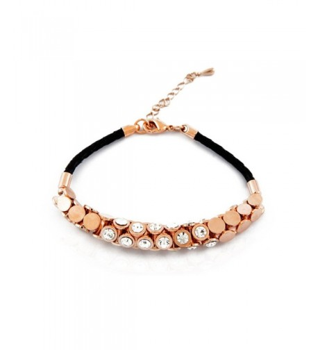 Trendy braided crystal bracelet Gold