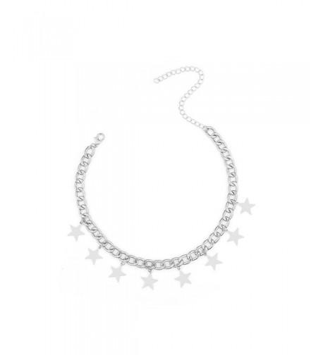 CrazyPiercing Dangling Choker Necklace Silver