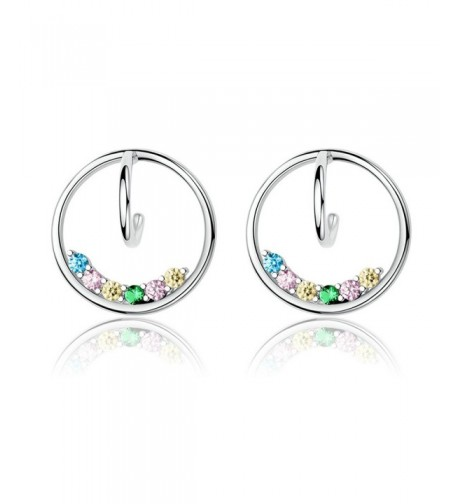 Kiss Colorful Sterling Silver Earrings