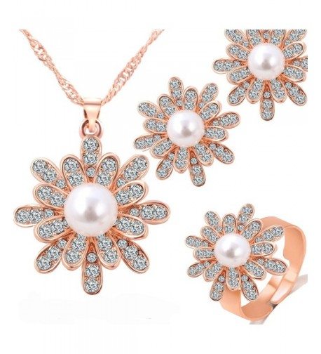 GSM Accessories Rhinestone Necklace NK1153 Rose
