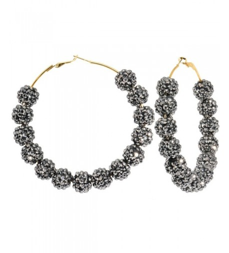 Starry Night Black Sparkle Earrings