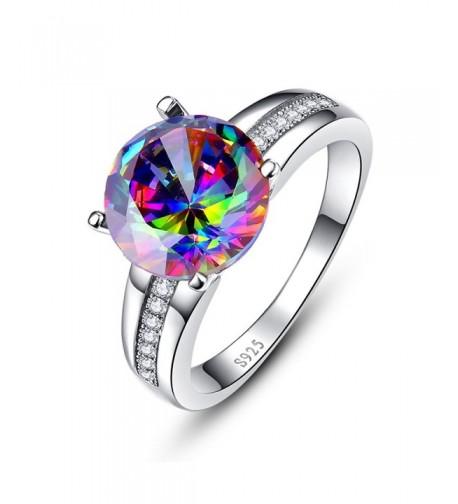 BONLAVIE Sterling Created Rainbow Engagement