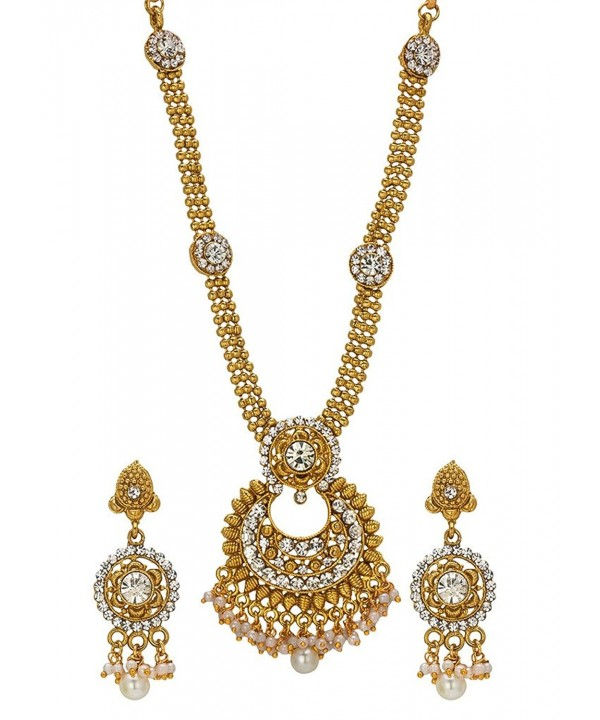 Bindhani Simulated Multilayer Necklace Earrings