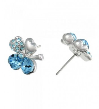4618e9dbd2af6c Swarovski Elements Crystal Rhodium Earrings  Women s Stud Earrings ...
