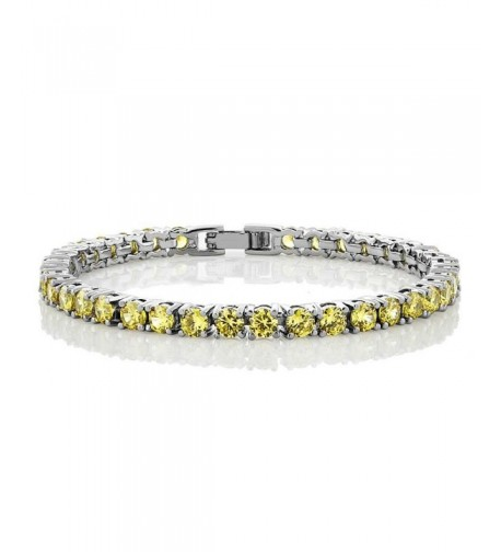 Canary Yellow Zirconias Tennis Bracelet