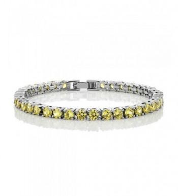 Canary Yellow Zirconias Tennis Bracelet