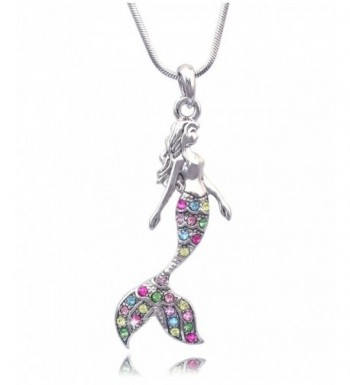 Fairytale Mermaid Pendant Necklace Multi Color