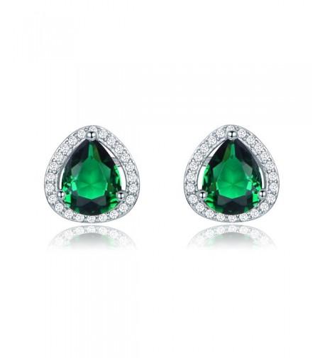GULICX Shinning Emerald Zironia Earrings