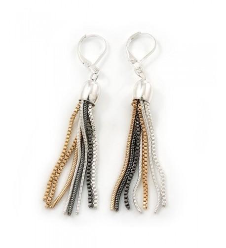 Stylish Tassel Earrings Leverback Closure