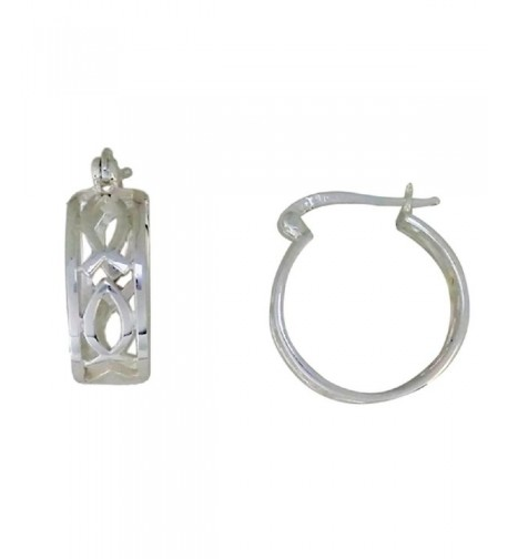 Sterling Silver Earring Designer Latch