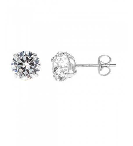 Solid Zirconia Earrings Basket Setting