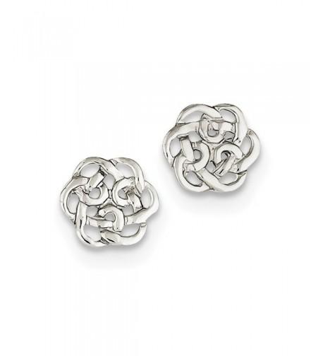 Sterling Silver Polished Celtic Earrings