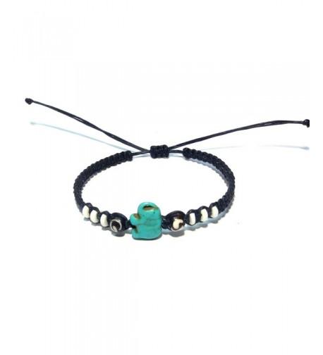 Elephant Hemp Bracelet Handmade Adjustable