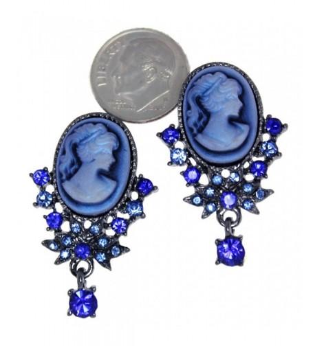 Victorian Design Simulated Rhinestone Earrings