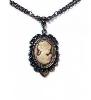 Necklace Victorian Vintage Bronze Pendant