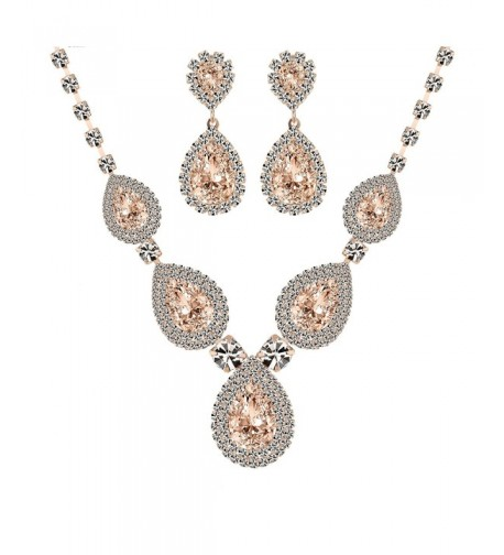 Miraculous Garden Rhinestone Necklace Champagne