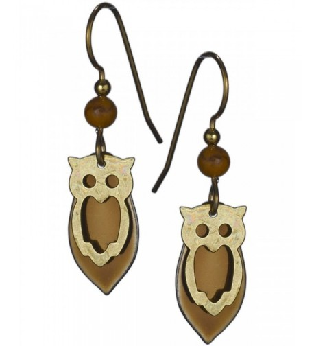 Gold tone Copper tone Earrings Silver Forest