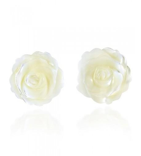 Innocence Carved Mother Sterling Earrings