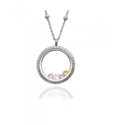 EVERLEAD Birthstones Floating Pendant Necklace