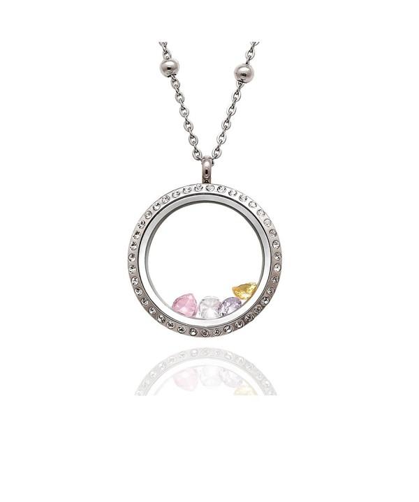 EVERLEAD Birthstones Floating Pendant Necklace