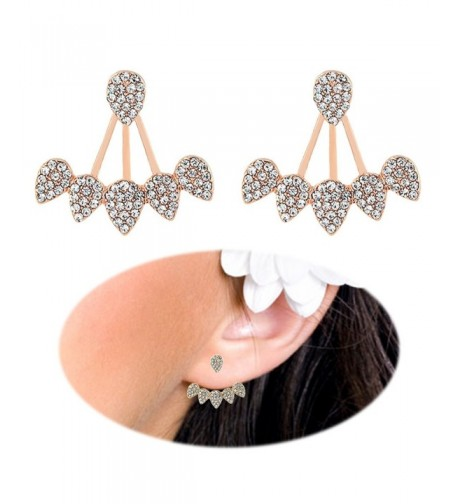 Crawler Earrings Climber Chandelier Rhinestone
