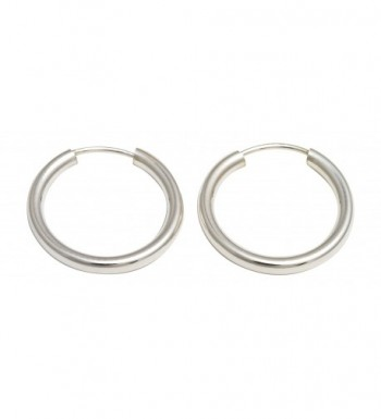 Sterling Silver Continuous Endless Earrings