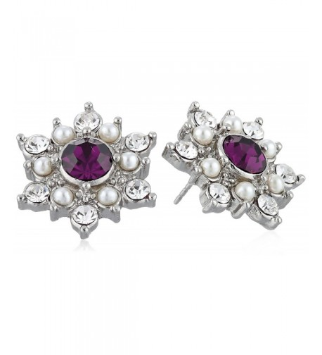 Downton Abbey Silver Tone Simulated Earrings