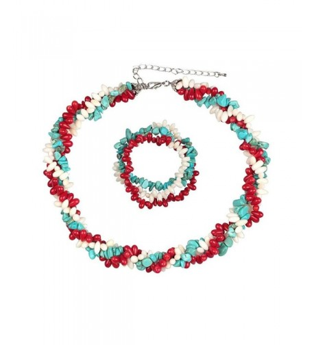 Cultured Freshwater Simulated Turquoise Necklace