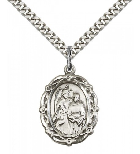 Sterling Raphael Archangel Pendant Stainless