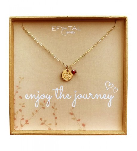 Filled Necklace Journey Dainty Pendant