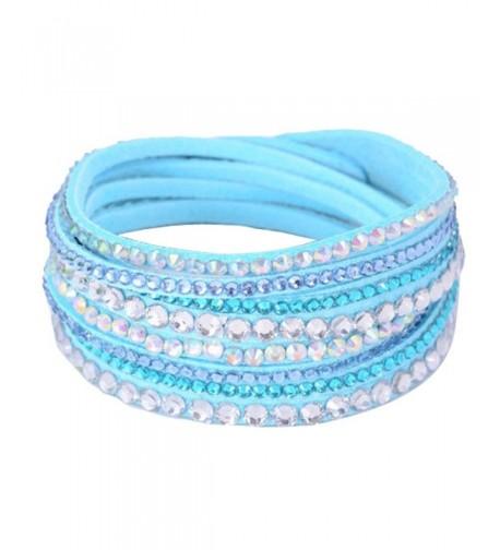 Eyourlife Wristband Rhinestone Multilayer Bracelet