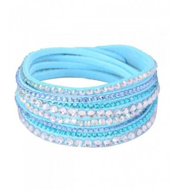 Eyourlife Wristband Rhinestone Multilayer Bracelet