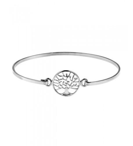 Mystical Tree Sterling Silver Bracelet