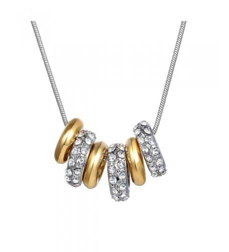 6 ring Fashion Necklace Swarovski Elements