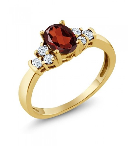 Garnet Yellow Plated Silver Available