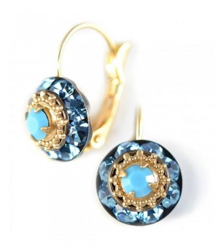 Clara Beau swarovski LeverBack earrings