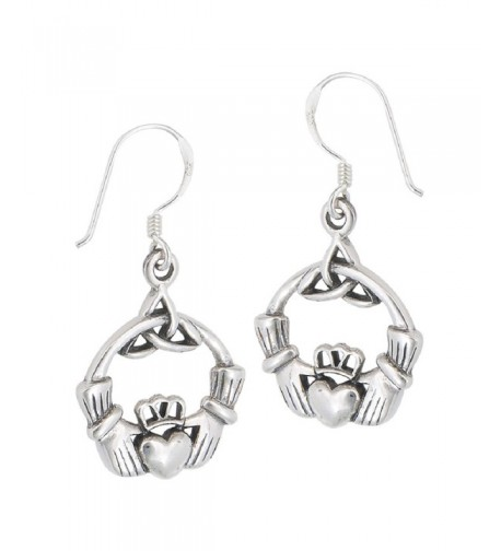 Sterling Friendship Loyalty Claddagh Earrings