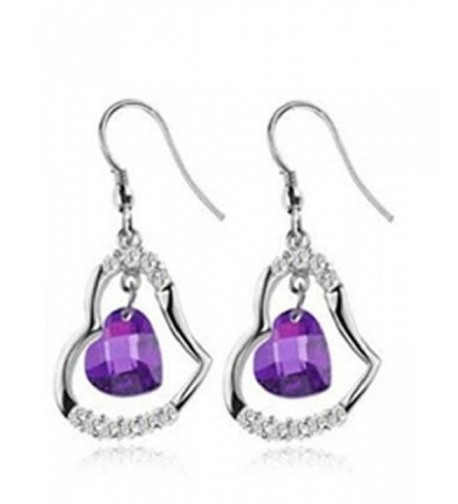 Goldminetrade Sterling Simulated Amethyst Earrings