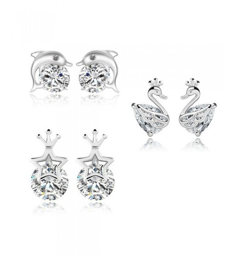Different Hypoallergenic Platinum Pierced Earrings