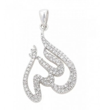 Stunning Sterling Silver Zirconia Pendant