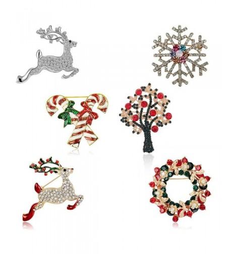 Christmas Brooch Pin Set Women