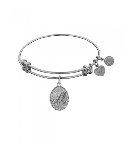 Non Antique Stipple Initial Angelica Bracelet