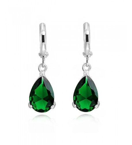 Teardrops Earrings Simulated Zirconia Crystals18