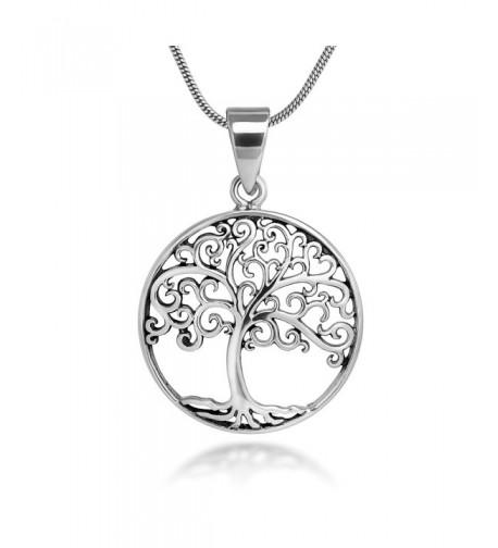 Sterling Silver Filigree Pendant Necklace