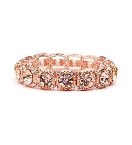 Mariell Crystal Stretch Bridesmaid Bracelet