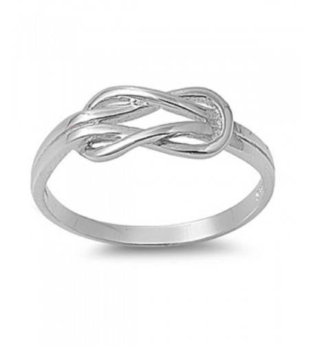 Sterling Silver Infinity Promise Knot
