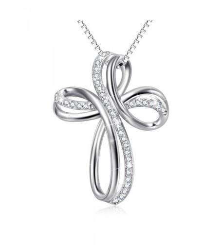 Sterling Zirconia Infinity Pendant Necklace