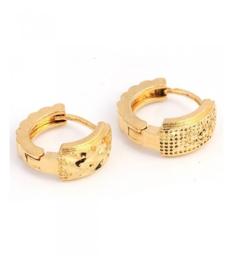 Gold Plated Simple Design Earrings